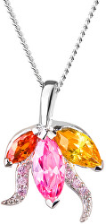 Stříbrný náhrdelník s třpytivým přívěskem Delicate 5067 69