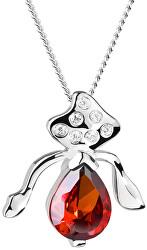 Stříbrný náhrdelník s třpytivým přívěskem Seductive 5065 63