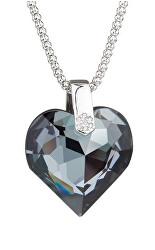 Strieborný prívesok Elan, srdce s krištáľom Preciosa 6631 40L (retiazka, prívesok)