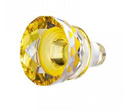 Trblietavá sklenená žltá zátka na víno s krištáľu Preciosa 1418 59