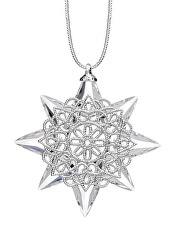 Závěsný ornament Vánoční hvězda českého křišťálu Preciosa 1503 00