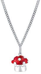 Designový stříbrný náhrdelník Muchomůrka Agátka KO6336_CU035_40_RH (řetízek, přívěsek)