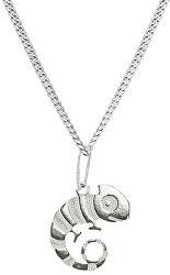 Dětský stříbrný náhrdelník Chameleon Oskar KO6151_CU025_40_A_RH (řetízek, přívěsek)