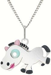 Dívčí stříbrný náhrdelník KO0967_CU035_40_RH  (řetízek, přívěsek)