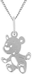 Dětský stříbrný náhrdelník Medvědí tlapky KO5098_CU035_40_N_RH  (řetízek, přívěsek)