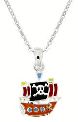 Dětský stříbrný náhrdelník Piráti KO8058_BR030_40_RH  (řetízek, přívěsek)
