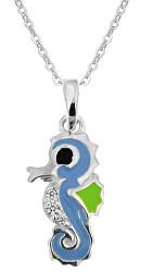 Dívčí stříbrný náhrdelník Mořský koník KO8088_BR030_40_RH  (řetízek, přívěsek)