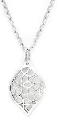 Elegantný strieborný náhrdelník s kryštálmi KO1752_FI040_50_RH (retiazka, prívesok)