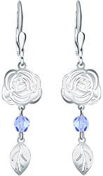 Hravé květinové náušnice ze stříbra Rose NA6279_RH