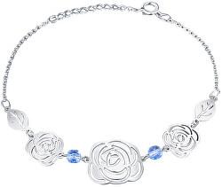 Hravý květinový náramek ze stříbra Rose KA6280_RH