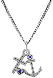 Námořnický stříbrný náhrdelník Anchor KO5156_CU035_49_RH  (řetízek, přívěsek)