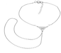 Něžný stříbrný náramek by Gabriela Koukalová Triangle KA6272