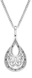 Orientálna strieborný náhrdelník Kvapka s kryštálmi KO2008_CU050_45_RH (retiazka, prívesok)