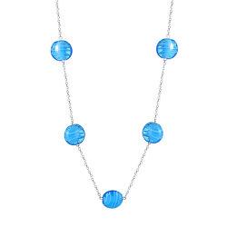 Originálne strieborný náhrdelník Blue sky N6422_RH