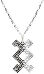 Pánsky strieborný náhrdelník Inguz KO5003_MO060_50_RH (retiazka, prívesok)