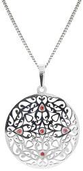 Prekrásny strieborný náhrdelník s kryštálmi KO5017_CU040_45_RH (retiazka, prívesok)