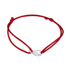 Šnúrkový červený kabala náramok Anjelské krídlo KA6169