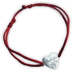 Šňůrkový červený kabala náramek Babička KA6304