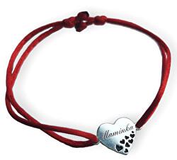 Šňůrkový červený kabala náramek Maminka KA6305