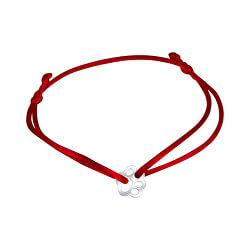 Šnúrkový červený kabala náramok tlapičky KA6174