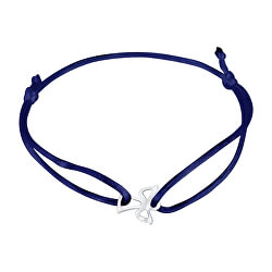 Šnúrkový modrý kabala náramok Anjelik KA6168