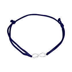 Šňůrkový modrý kabala náramek Nekonečno KA6188