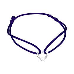 Šnúrkový modrý kabala náramok Srdiečko KA6183