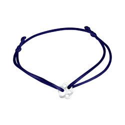 Šnúrkový modrý kabala náramok tlapičky KA6178_RH