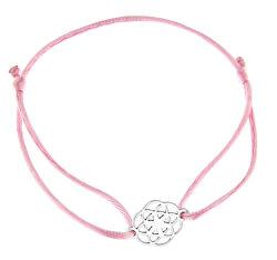 Šnúrkový ružový kabala náramok Mandala KA6200