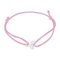Šnúrkový ružový kabala náramok Anjelik KA6165