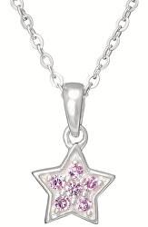 Stříbrný dětský náhrdelník Hvězda KO8007_BR030_40_RH  (řetízek, přívěsek)