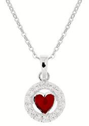 Stříbrný dívčí náhrdelník Maminčina láska KO8069_BR030_40_RH (řetízek, přívěsek)