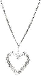 Strieborný náhrdelník Heartbeat KO1151_CU050_45_RH (retiazka, prívesok)