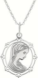 Strieborný náhrdelník Pokora KO0863_BR030_43-7_RH (retiazka, prívesok)