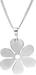 Strieborný náhrdelník s dizajnom kvety KO0409m_CU050_45_N_RH (retiazka, prívesok)