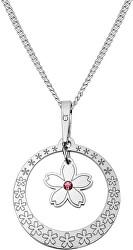Strieborný náhrdelník s kryštálom Spring Flowers KO5036_CU035_49_RH (retiazka, prívesok)