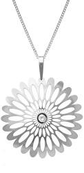 Strieborný náhrdelník Shining Blossom KO0941M_CU040_50_RH (retiazka, prívesok)