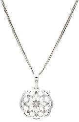 Stylový stříbrný náhrdelník Mandala KO1415_CU035_49_RH  (řetízek, přívěsek)