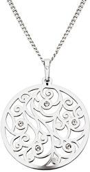 Trblietavý strieborný náhrdelník s kryštálmi KO1708M_CU040_45_RH (retiazka, prívesok)