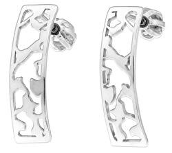 Úchvatné stříbrné náušnice Marble NA6286