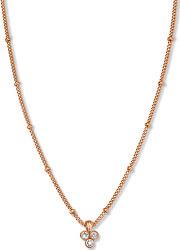 Pozlátený náhrdelník s trojitým kryštálom Swarovski Toccombo JTNTRG-J443