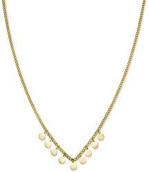 Pozlátený oceľový náhrdelník s peniažky Toccombo JTNMG-J444