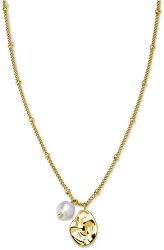 Pozlátený oceľový náhrdelník s príveskami Toccombo JTNPG-J446