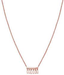 Ružovo pozlátený oceľový náhrdelník Iggy JMDNR-J052