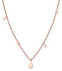 Ružovo pozlátený oceľový náhrdelník Iggy JSDNR-J055