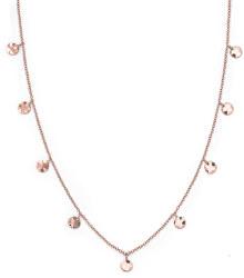 Ružovo pozlátený oceľový náhrdelník s peniažky Iggy JTCWR-J097