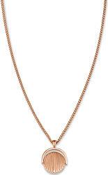 Růžově zlacený náhrdelník s mušlí Toccombo JTNCRG-J449