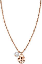 Ružovo pozlátený náhrdelník s príveskami Toccombo JTNPRG-J447