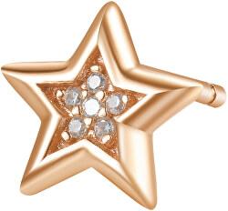 Bronzová single náušnice Hvězda se zirkony Storie RZO026