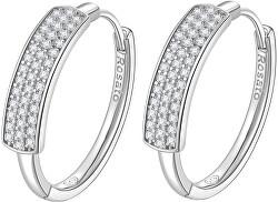 Cercei eleganți din argint cercuri cu zirconii RZFU21